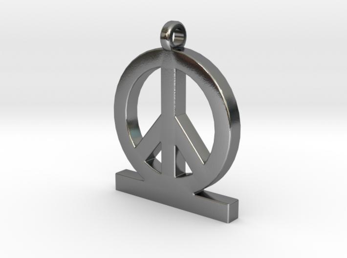 Peace Pendant Women 3d printed