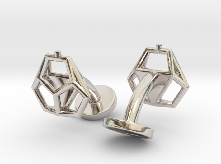 Asp mkII Wireframe Cufflinks 3d printed