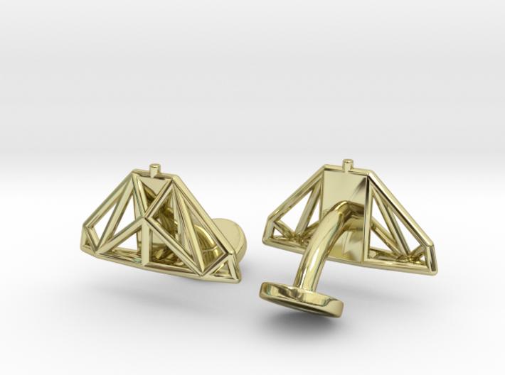 Cobra mkIII Wireframe Cufflinks 3d printed