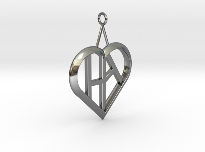 Heart of love pendant [customizable] 3d printed