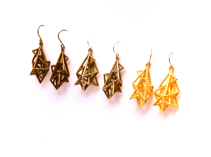 Urban Complexity Earrings 3d printed