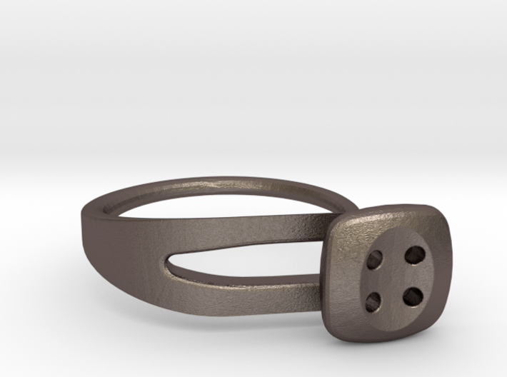 Button Ring Modern 3d printed