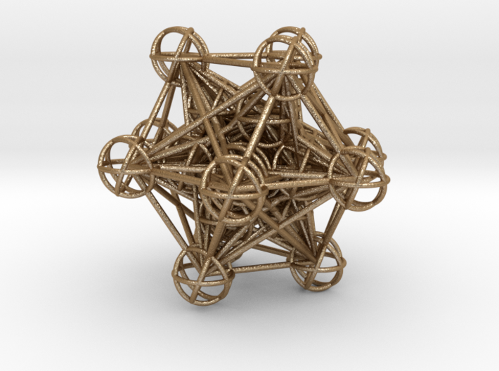 The full 3d Metatrons Cube 59mm Sacred Geometry 3d printed