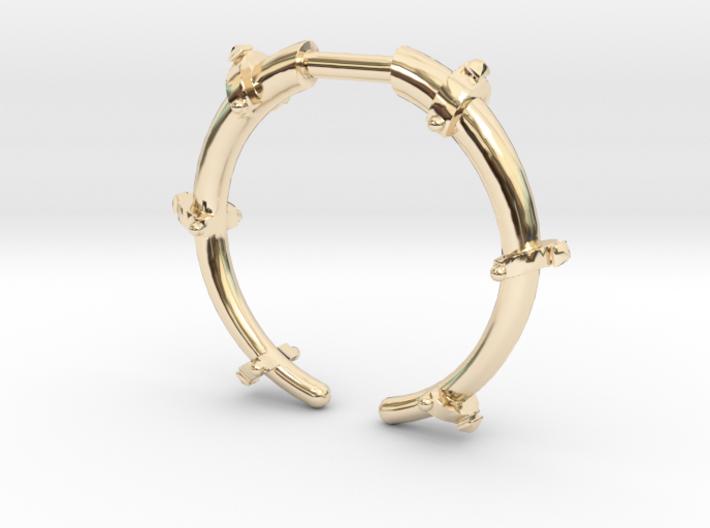 Revival Horn Ring - Sz.9 3d printed