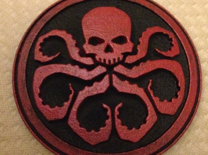 HYDRA badge 3d printed