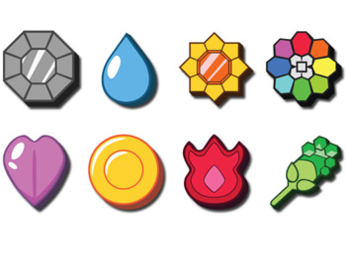 Pokemon Badges 3d printed *not actual product