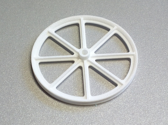 F3P Single motor contra - Main Friction Ring 3d printed Actual part printed in white strong and flexible.