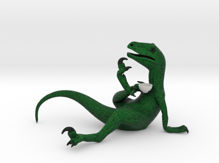 Philosoraptor color 3d printed