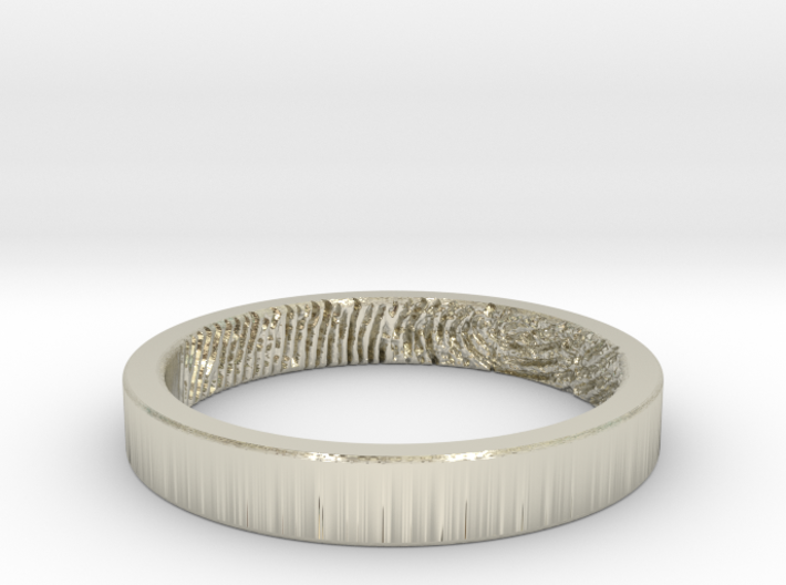 Fingerprint Ring - Hers 3d printed