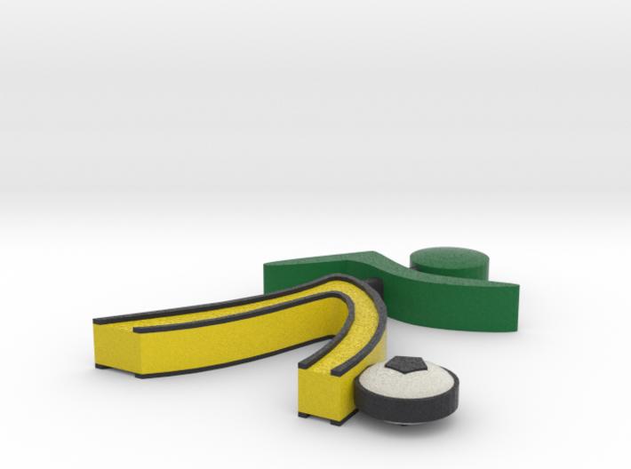 Athletes Soccer Man - Green 3d printed