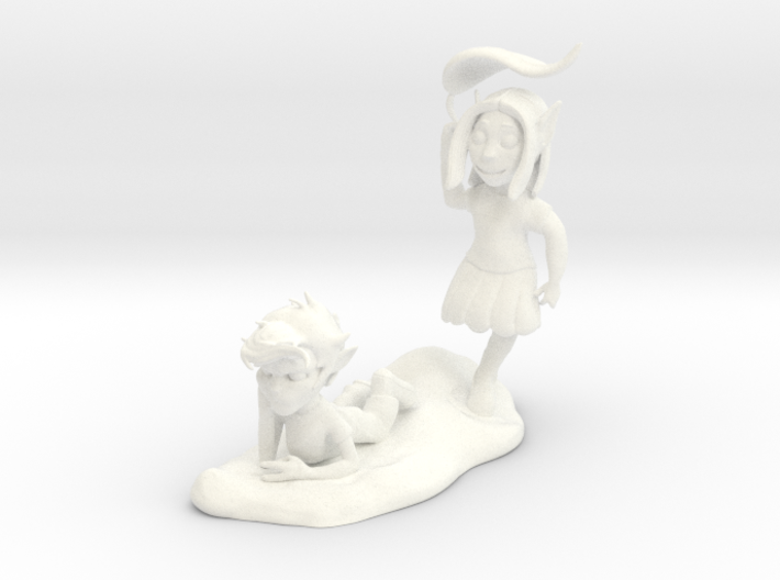 Young Ace and Jenna 3d printed