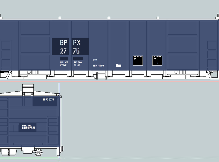 GTR BPPX N Scale 3d printed