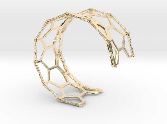 Honey Cuff Bracelet (small/medium, snug fit) 3d printed