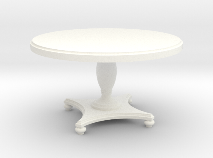 1:24 Round Colonial Dining Table 3d printed