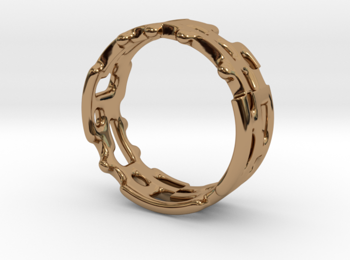 Geo Ring With Holes - US Size 6 to 6.5 3d printed