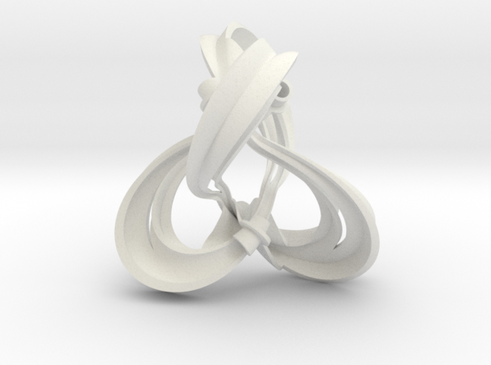 Figure 8 knot complement triangulation (0.8 scale) 3d printed