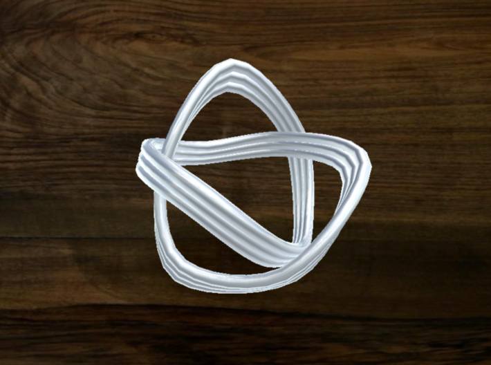 Turk's Head Knot Ring 2 Part X 3 Bight - Size 0 3d printed
