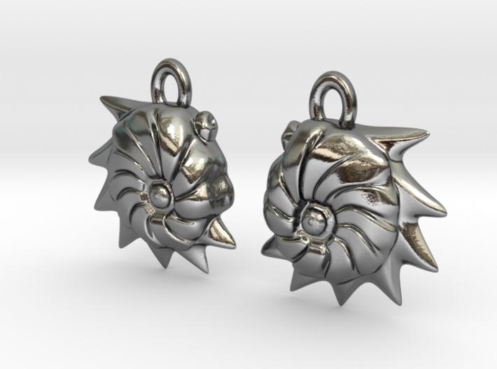 Cristellaria earrings 3d printed