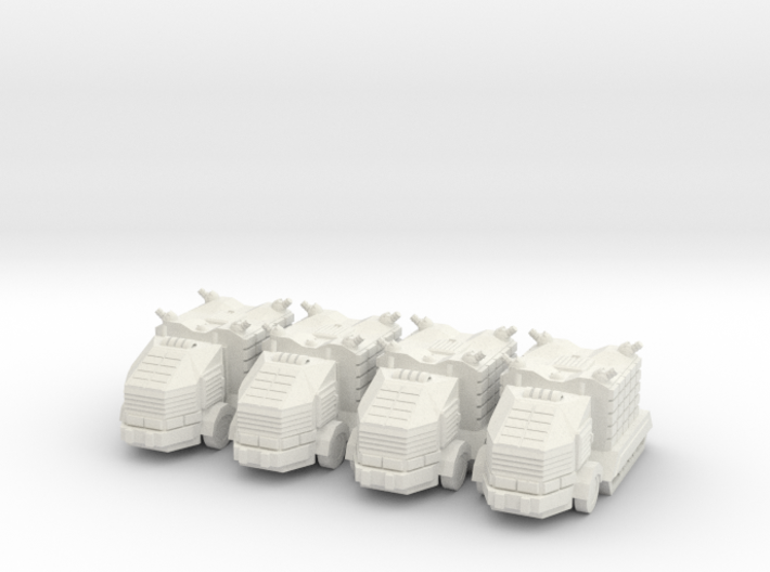 Troop Truck Platoon 10mm 3d printed
