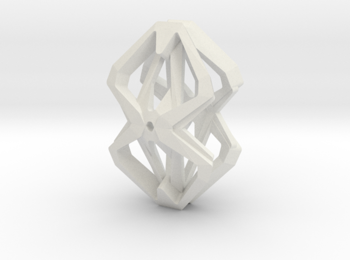 """head to head,heart to heart"" no.59 pendant 3d printed"