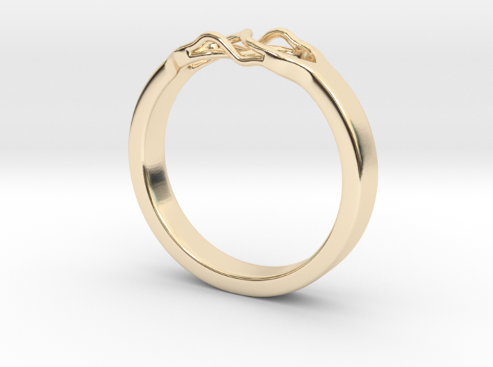 Roots Ring (18mm / 0,7inch inner diameter) 3d printed