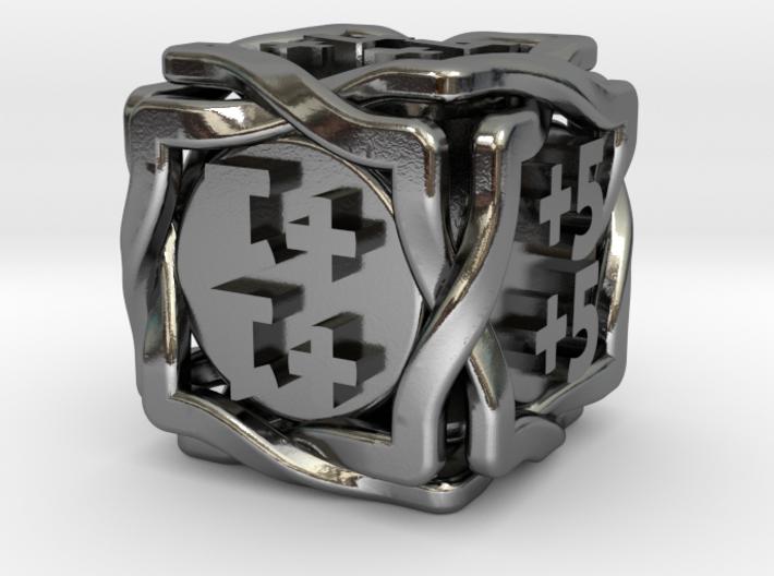'Twined' Dice D6 MTG +1/+1 Counters die 3d printed