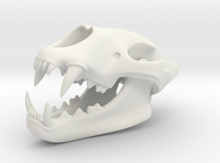 3D Printed Lion Skull 3d printed