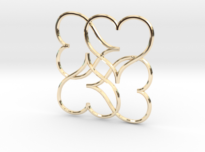 Heart Earring or Pendant 3d printed