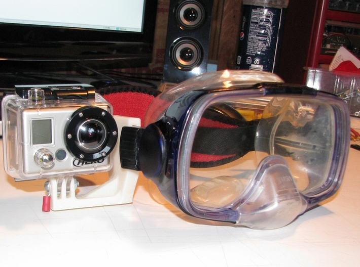 GoPro Scuba Mask Mount 3d printed