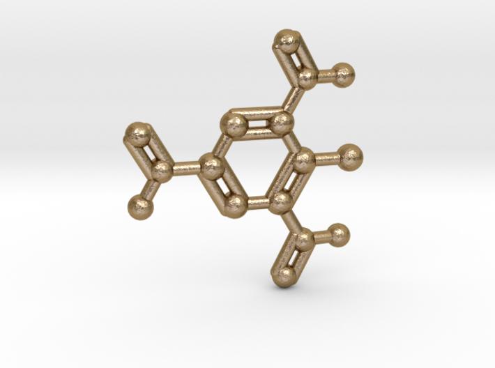 TNT Molecule Keychain Necklace 3d printed