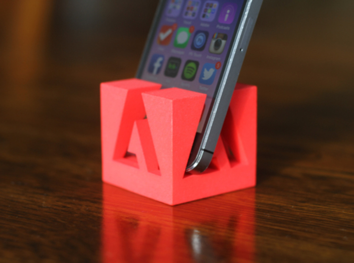 Adobe Logo iPhone iPod Stand 3d printed Red Adobe iPhone Stand
