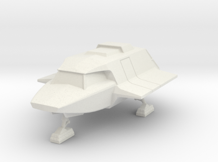 Skyfighter Landed (V, The Visitors) 3d printed Version 2 Model