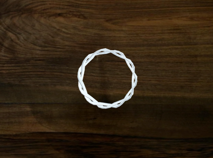 Turk's Head Knot Ring 2 Part X 11 Bight - Size 12. 3d printed