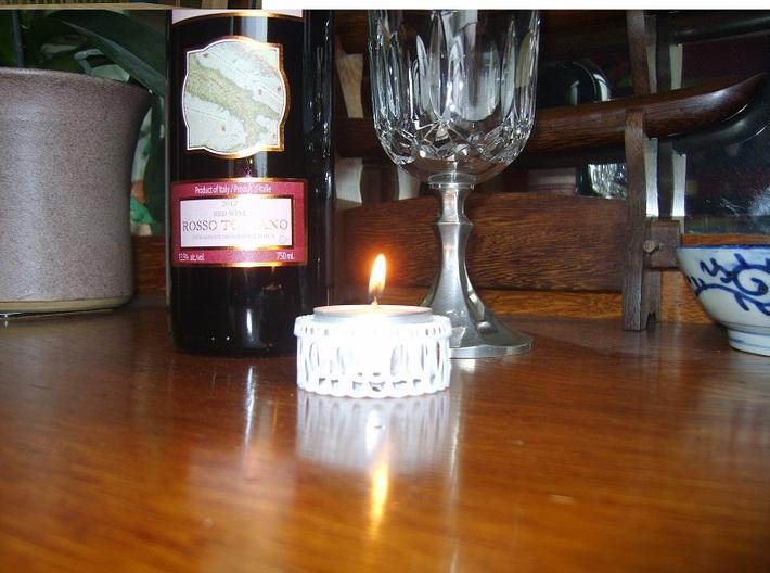 Tea Light Holder 3d printed Tea Light Holder - Inner Diameter of 40mm and an Inner Depth of 16mm.