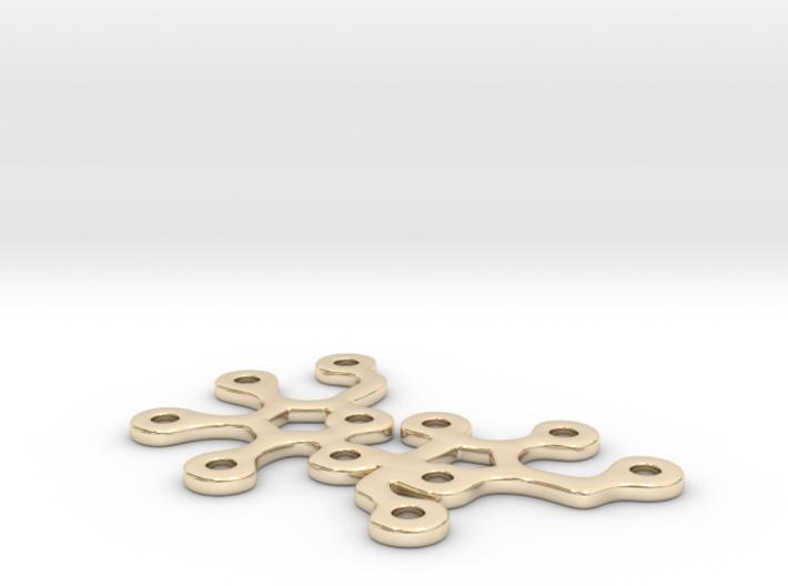 Sucrose pendant 3d printed