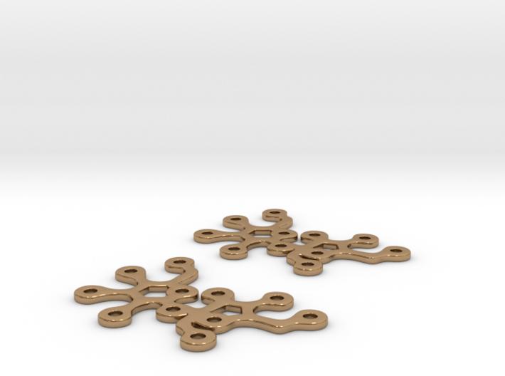 Sucrose earrings 3d printed