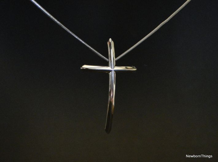 Pendant I.N.R.I. 3d printed Floating Cross-Pendant - Chain not included.