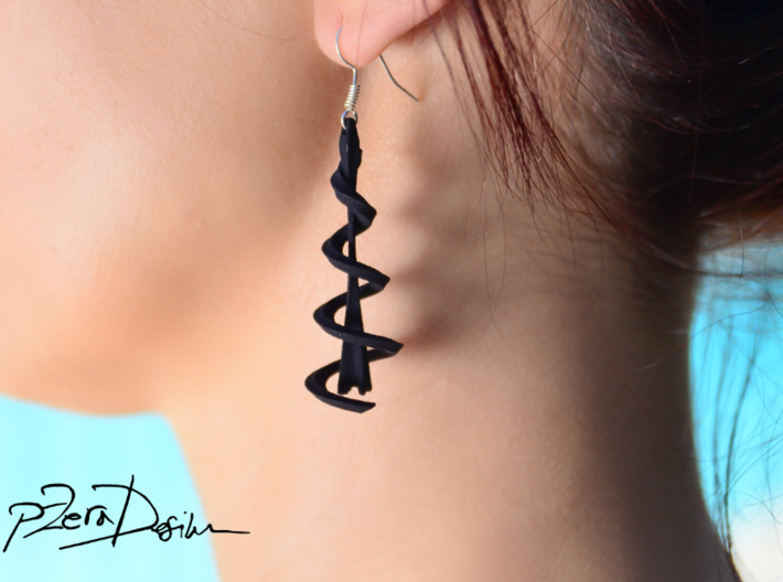 Helix Eiffel Earrings 3d printed
