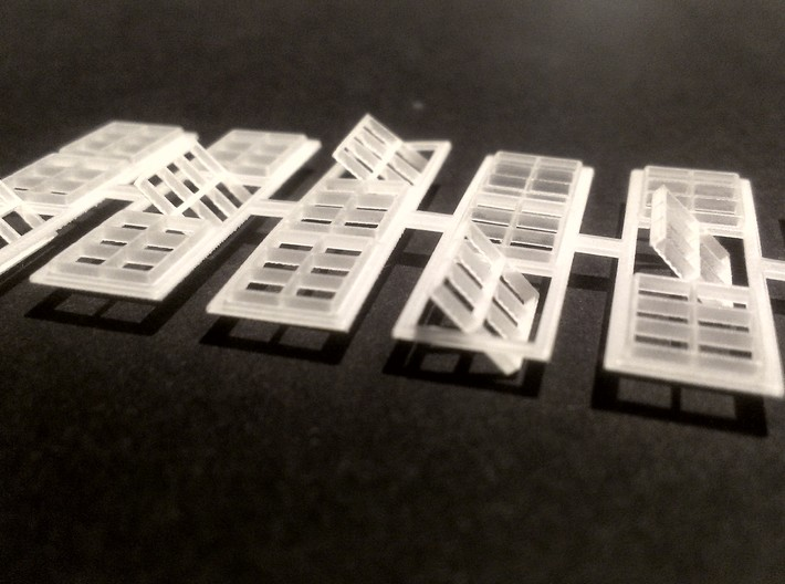 Coal Tipple Replacement Windows (N-Scale) 3d printed Closeup of open windows