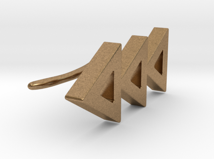 The Trio of Triangles Earcuff 3d printed