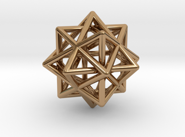 Compound of Three Octahedra 3d printed
