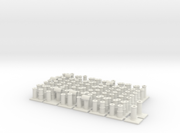 T005 Chimney Pots - 4mm Scale 3d printed