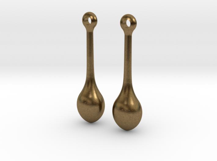 Teardrop Earrings - Bronze Age Earrings for Today 3d printed