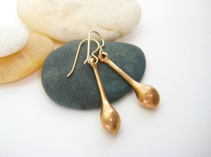 Teardrop Earrings - Bronze Age Earrings for Today 3d printed