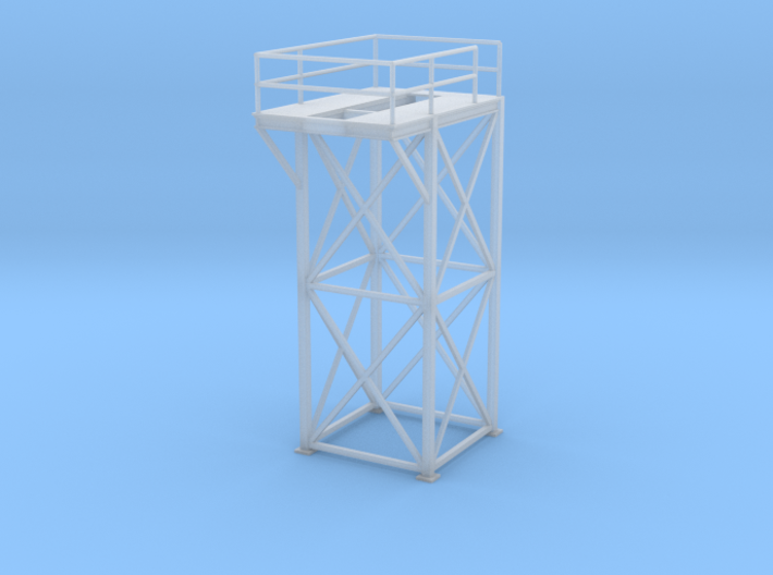 'HO Scale' - 8'x8'x20' Tower Top 3d printed