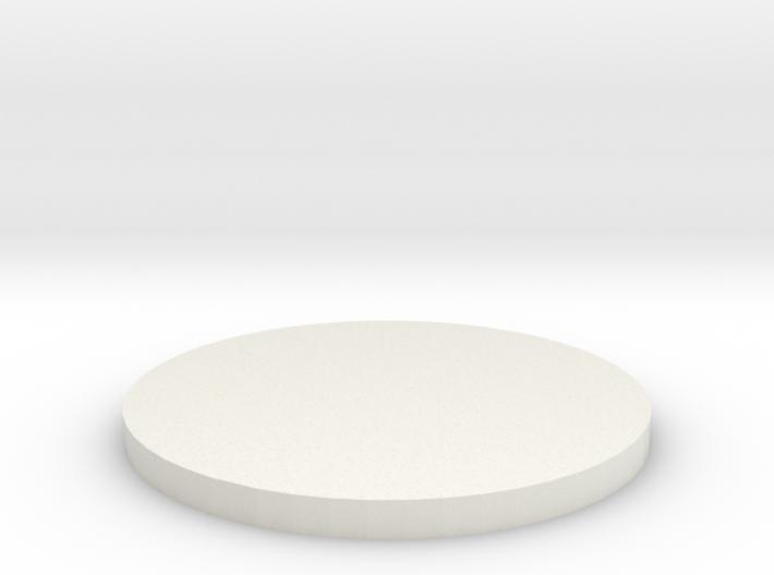 'N Scale' - 18' Diameter Bin Foundation 3d printed