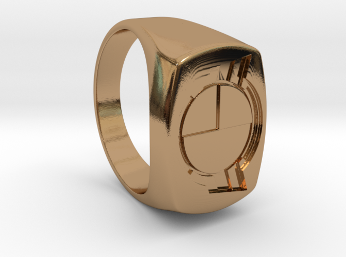 Test Squadron - Signet Ring - Alternate (Embed) 3d printed