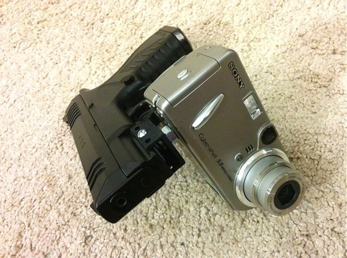 Universal Digital Camcorder Picatinny Mount Adapte 3d printed