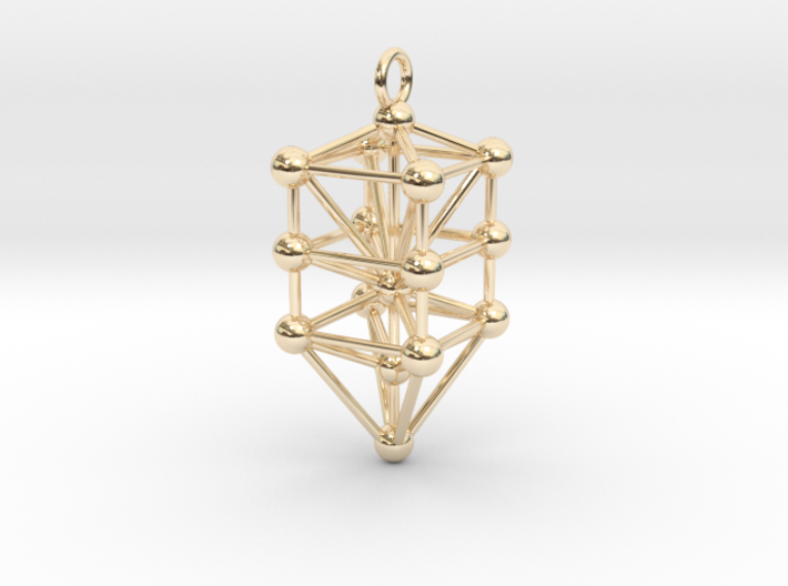 Small Qabalistic Tree of Life Pendant 3d printed