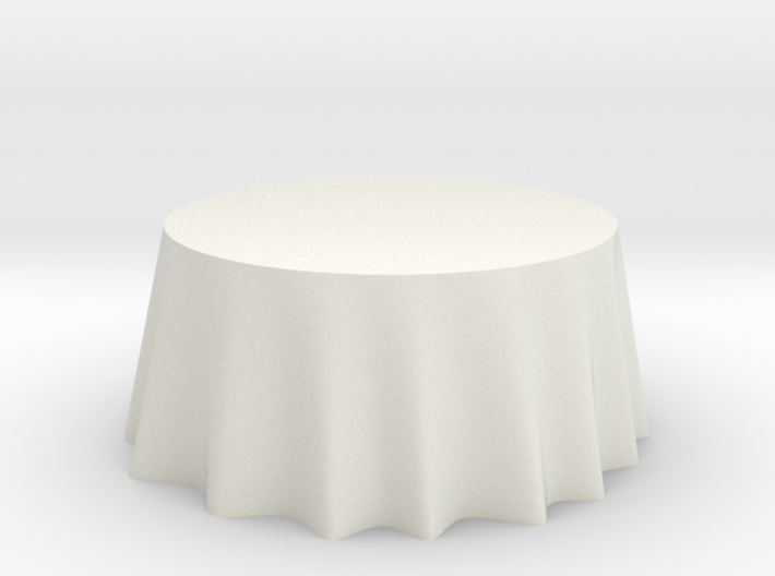 "1:24 Draped Table - 60"" diameter 3d printed"